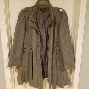 CK wool blend belted coat used
